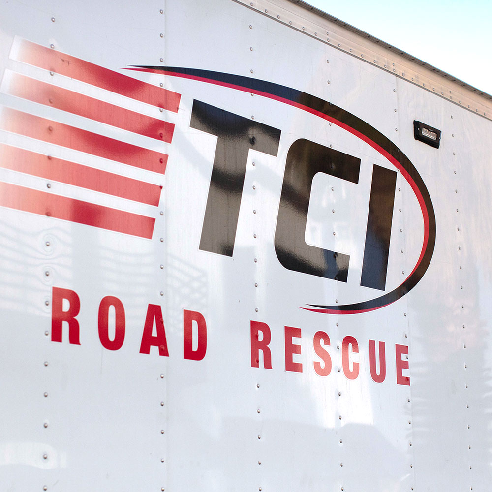 Side of TCI Road Rescue Truck